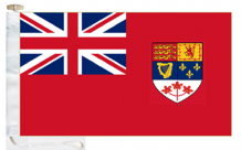 Canada Civil Red Ensign Courtesy Boat Flags (Roped and Toggled)
